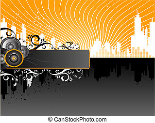Music Background - Vector Grunge Music Background with ...