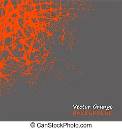 Vector Grunge orange Texture scratches on gray