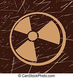 grunge radiation symbol