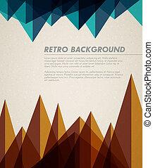 vector, grunge, retro, achtergrond, /, mal