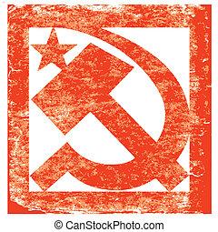 vector grunge soviet symbol