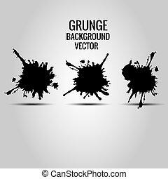 vector grunge splatter design, text label background, illustration vector design