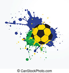grunge style soccer background