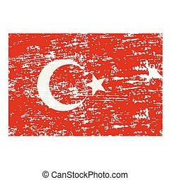 vector grunge styled flag of turkey