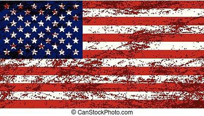 Vector grunge USA flag background
