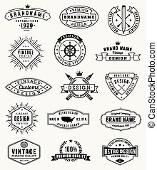 Vector grunge Vintage logos and insignas