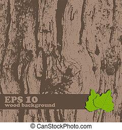 Vector grunge wooden texture.