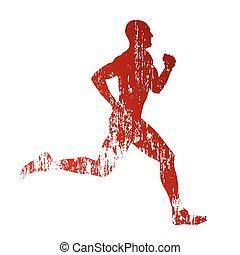 Vector grungy runner