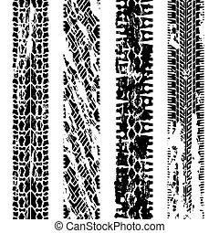 vector grungy tire prints