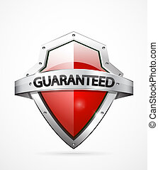 Vector guarantee shield - Vector guarantee icon. Realistic...