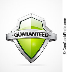 Vector guarantee shield - Vector guarantee icon. Realistic ...