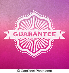 Vector guarantee sign.
