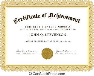 vector, guilloche, certificaat