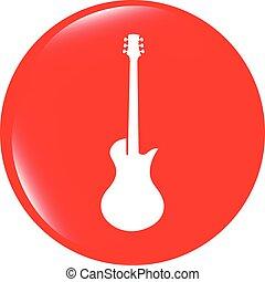 vector Guitar icon button isolated