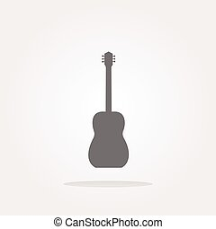 vector Guitar - icon button isolated. Web Icon Art. Graphic Icon Drawing