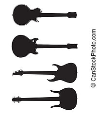 Vector guitars silhouettes