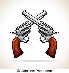 Vector gun design on white background