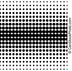 Vector halftone dots. Black dots on white background