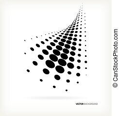 Vector halftone dots abstract background