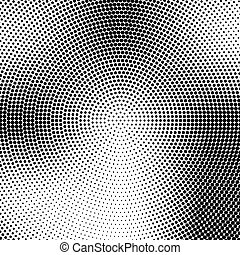Vector halftone pattern. Dotted background design. Halftone effect round template