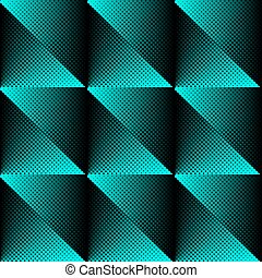 Vector halftone texture seamless pattern blue and black