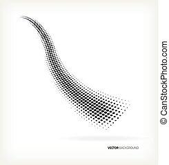 Vector halftone wave