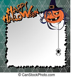 vector halloween card / letter pape