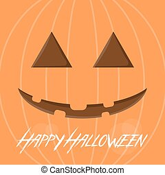 Halloween card template stylized as a carved pumpkin.
