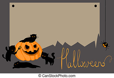 Vector halloween card with space for text