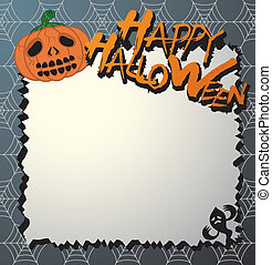 vector halloween card/letter paper