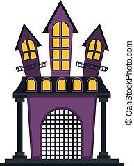 Vector Halloween castle. Design elements for halloween