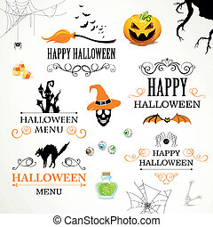 Vector Halloween Design Elements