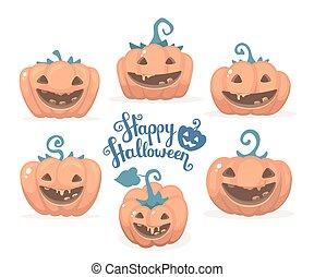 Vector halloween illustration of co