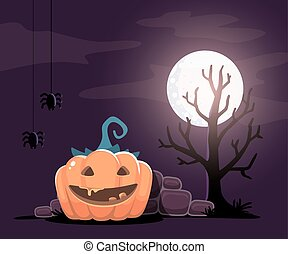 Vector halloween illustration of de