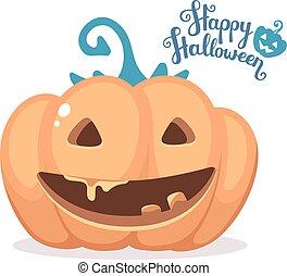 Vector halloween illustration of de