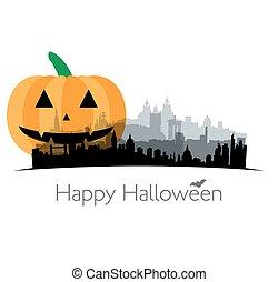 Halloween illustration of Great Britain