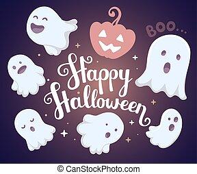 Vector halloween illustration of ma