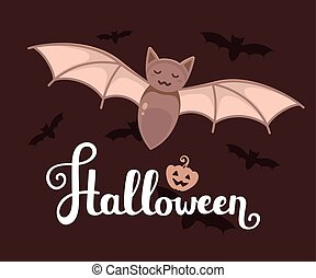 Vector halloween illustration with