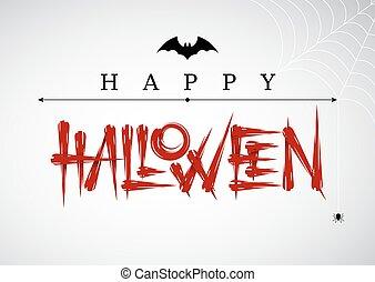 Vector Halloween lettering - Halloween lettering. Design...