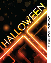 Halloween Neon Party Background