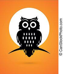 Vector Halloween Owl
