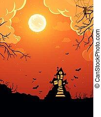 vector, halloween, plano de fondo