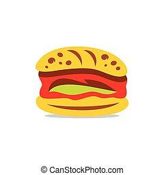 Vector Hamburger Cartoon Illustration.