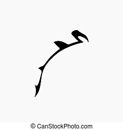 vector hammerhead shark logo
