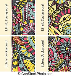 Vector hand draw ethnic background