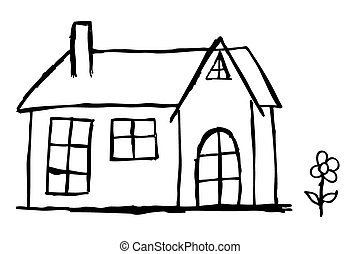 hand draw sketch of House