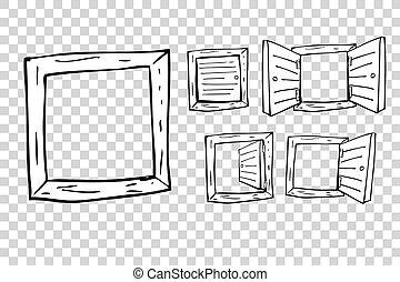 Hand Draw Sketch of Windows