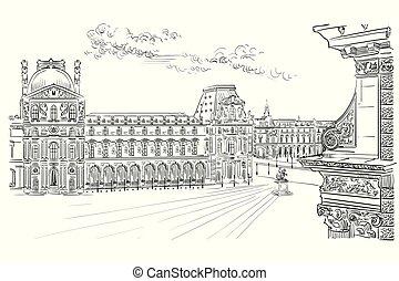 Vector hand drawing Paris 10