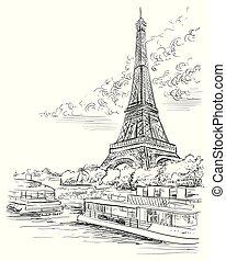 Vector hand drawing Paris 3