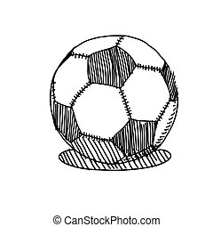 vector hand drawing sketch soccer ball illustration